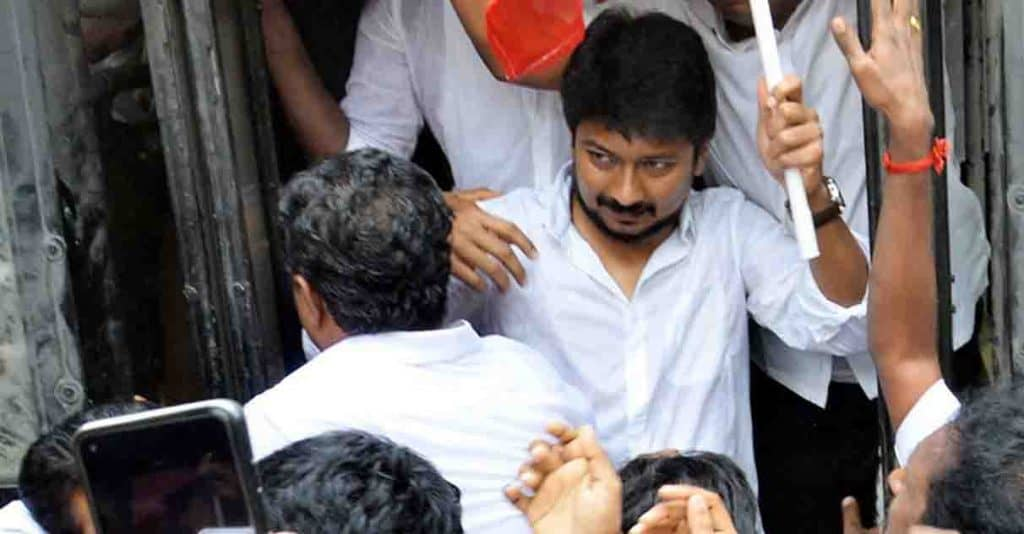 Udayanidhi Stalin in 4 sections - updatenews360