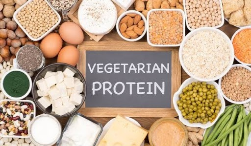 how the vegetarian people can add protein on their food