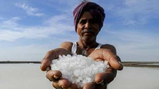 Ocean salt primarily comes from rocks on land