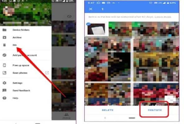 Photos from Google Photos have been deleted by mistake, so bring back