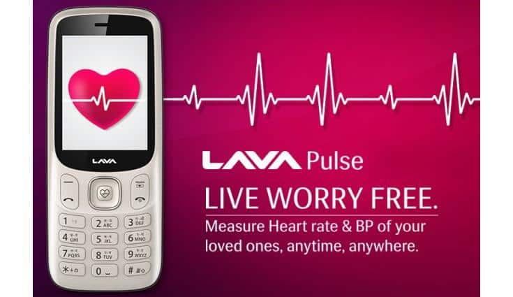 Lava Pulse feature phone launched with Heart rate and Blood Pressure sensor for Rs 1599