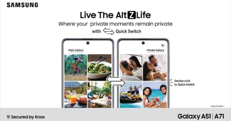 Samsung AltZLife, a new private mode introduced on Galaxy A51 and Galaxy A71