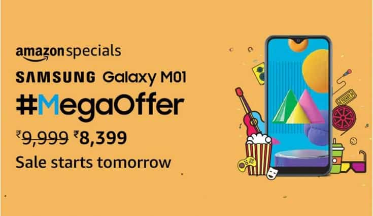 Samsung Galaxy M01 to be available at discounted price on Amazon India tomorrow