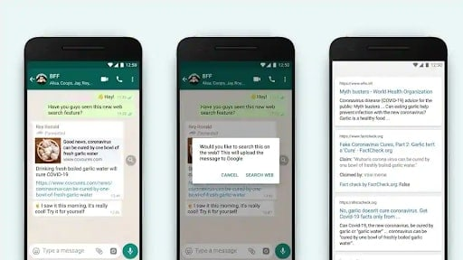 WhatsApp introduces Search the Web on Android, iOS, Web