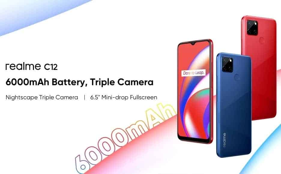 Realme C12 launched with 6000mAh battery, triple rear cameras