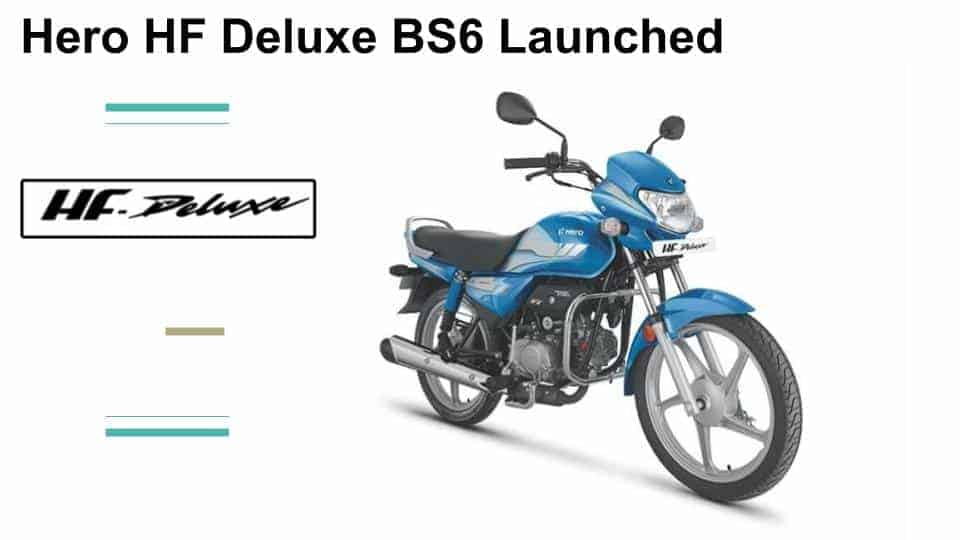 Hero HF Deluxe BS6 new variants announced