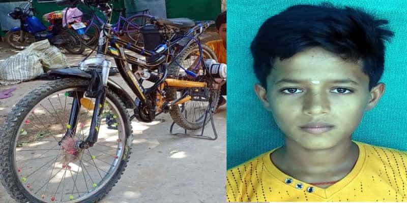 A-13-year-old-boy-found-a-battery-powered-bicycle-in-Ramanarapuram