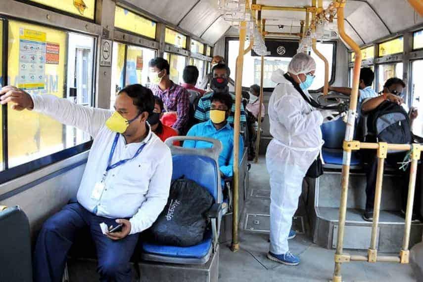Bus corona- updatenews360