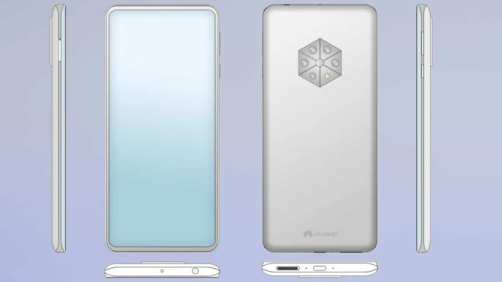Huawei patents smartphone with 5 rear cameras