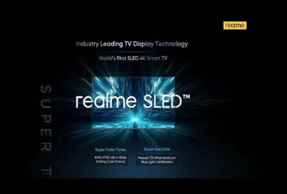 Realme Teases 55-inch 4K Smart TV with SLED Display Technology; Launching in October