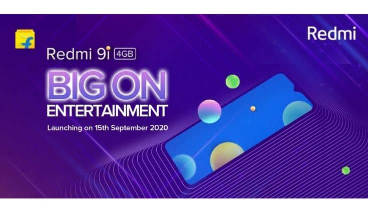 Redmi 9i to launch in India on September 15