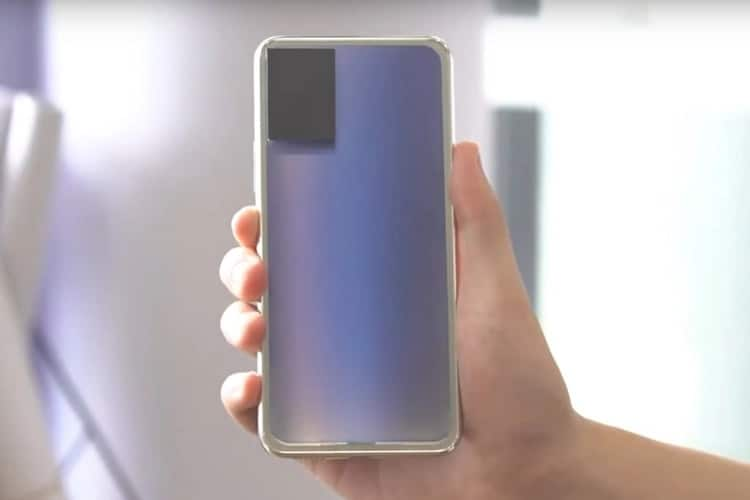 Vivo Working on a Phone With Color-Changing Back Panel