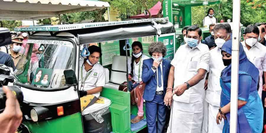 Women-powered solar, electric autos flagged off by Tamil Nadu CM Palaniswami