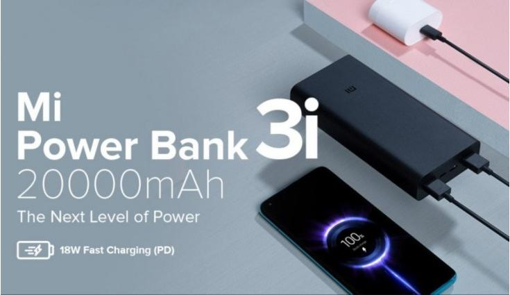 Xiaomi Mi Power Bank 3i with 10,000mAh and 20,000mAh capacities launched