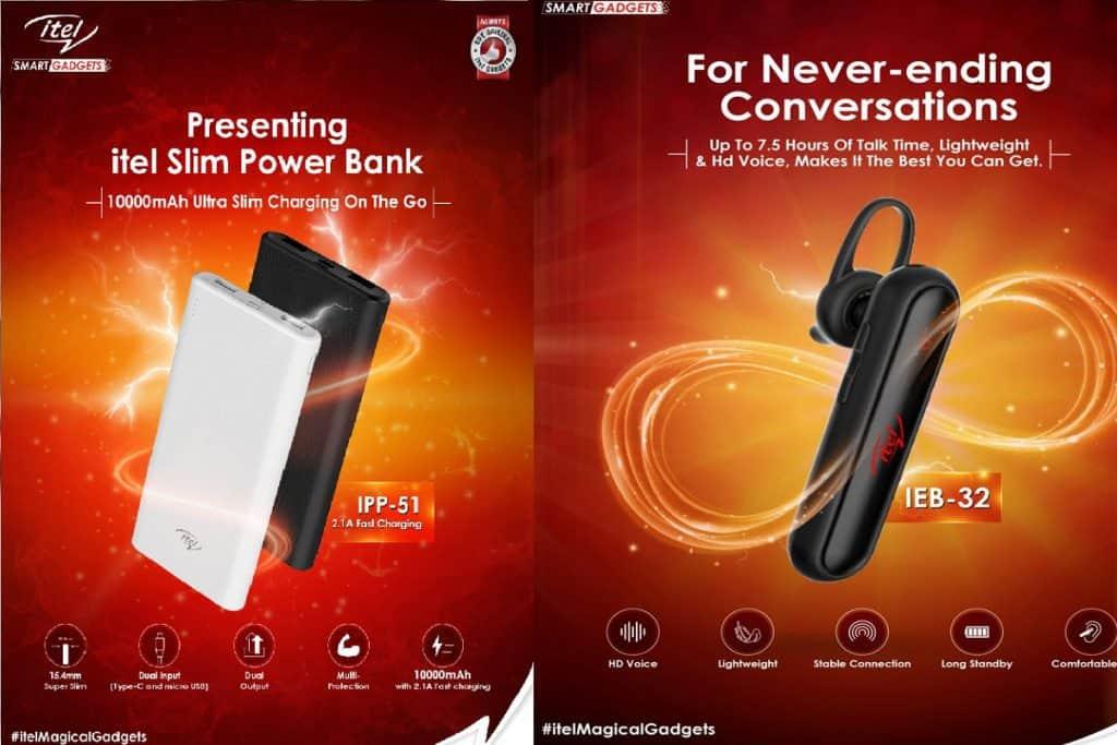 itel launches IEB-32 Bluetooth Headset and IPP-51 Super Slim Powerbank