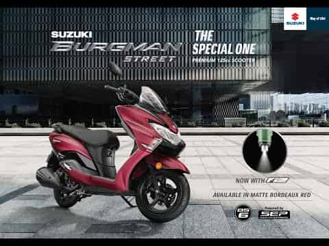 Suzuki Burgman Street 125 BS6 available in five colour options now