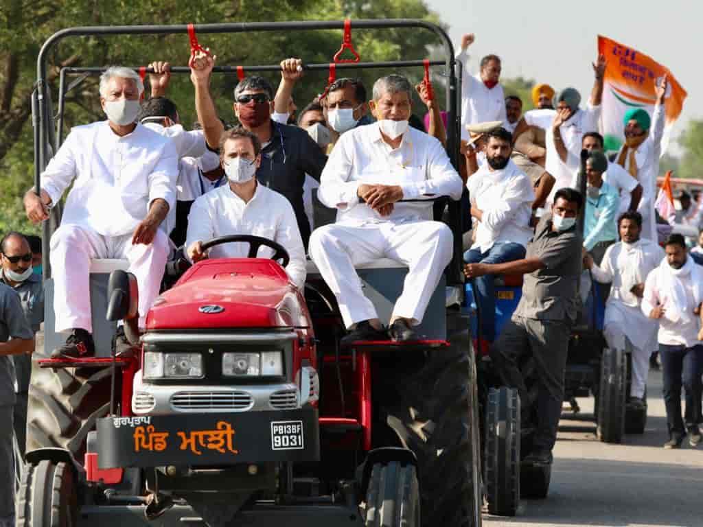 Congress rahul tractor - updatenews360