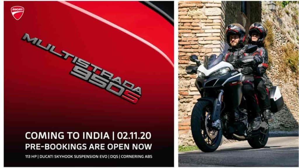 Ducati Multistrada 950 S India launch scheduled on 2 November