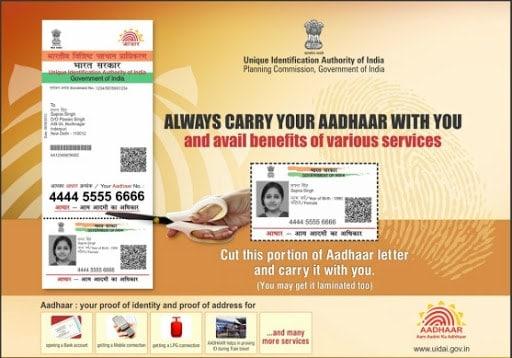 How to get Aadhar card reprint online