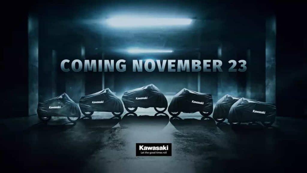 Kawasaki to unveil six motorcycles on 23 November