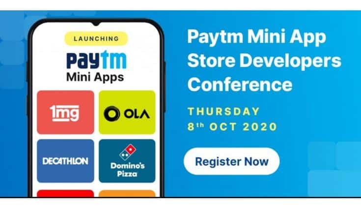 Paytm to host a Developer Conference on 8th October for Paytm Mini Apps