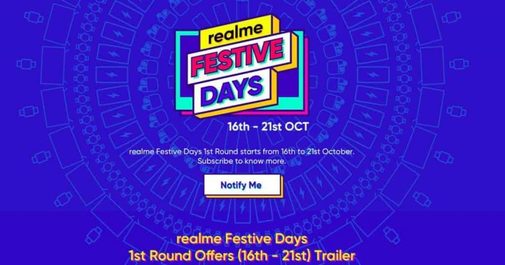 Realme announces Festive Days First Sale Offers