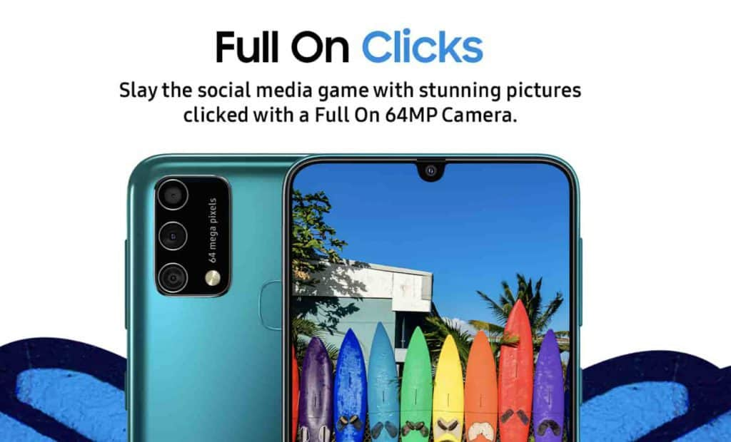 The Samsung Galaxy F41 comes with a 6.4-inch full HD+ sAMOLED Infinity U display, a massive 6,000mAh battery with 15W fast charge support and three cameras on the back.