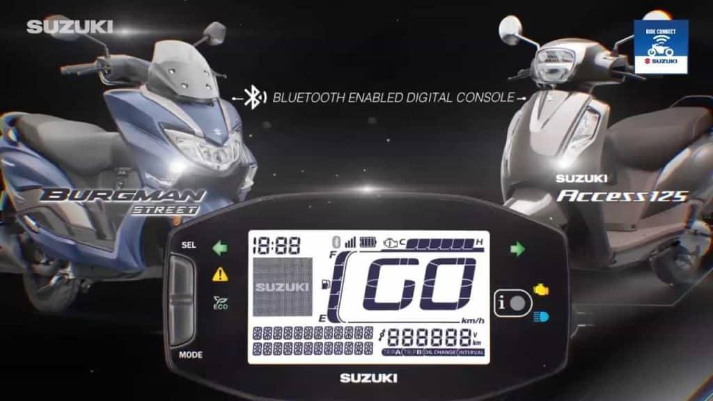 Suzuki Access 125 and Burgman Street get Bluetooth connectivity