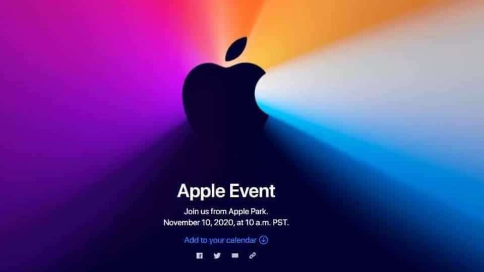 Apple announces November 10 event, new Macs expected