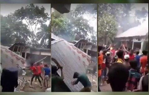 Bangaladesh_Muslims_Attacks_Hindu_Houses_UpdateNews360