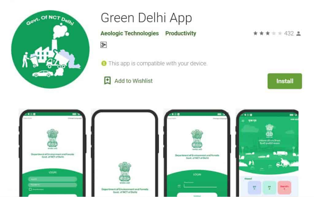 'Green Delhi' mobile app launched by Delhi CM to check air pollution.