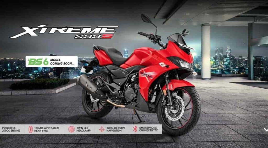Hero Xtreme 200S BS6 launched in India at Rs 1,15,715