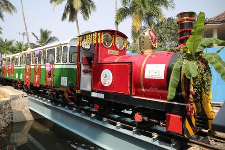 India's first solar-powered miniature train launched at Veli Tourist Village in Kerala