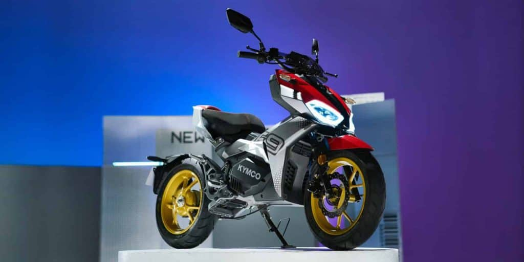 Kymco unveils F9 sport electric scooter with two gears