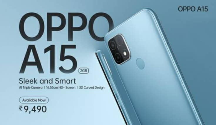 Oppo launches a new variant for Oppo A15 with 2GB RAM