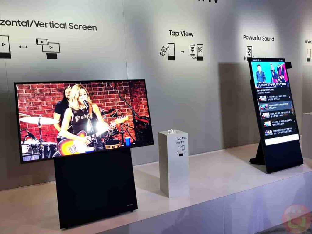 Samsung unveils TV with a rotating display