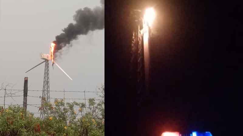 Wind Mill Fire - Updatenews360