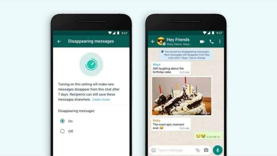 WhatsApp starts rolling out disappearing messages to beta users