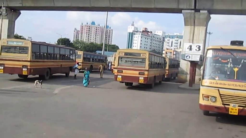 koymabedu town bus - 101120