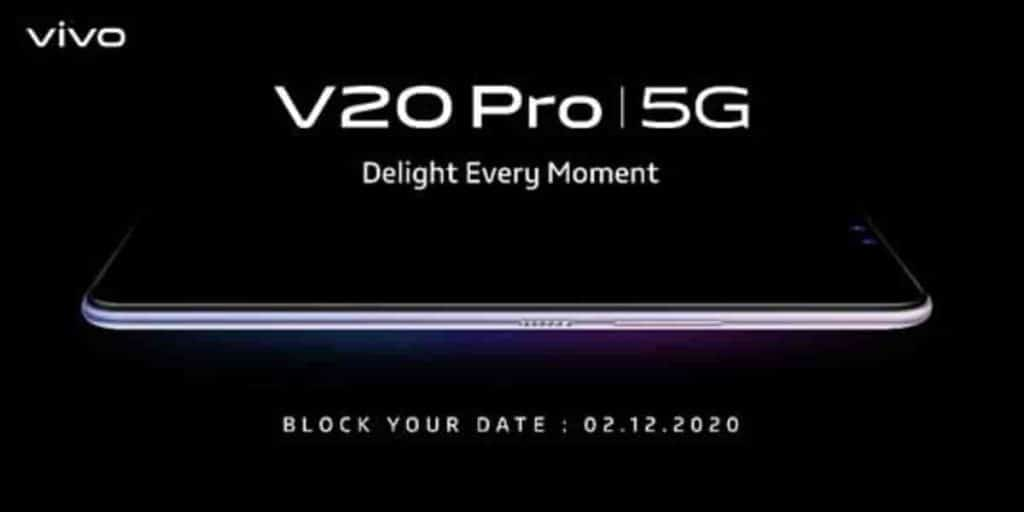 Vivo V20 Pro confirmed to launch in India on December 2