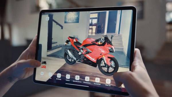 TVS ARIVE App: An Augmented Reality Experience For Apache Customers