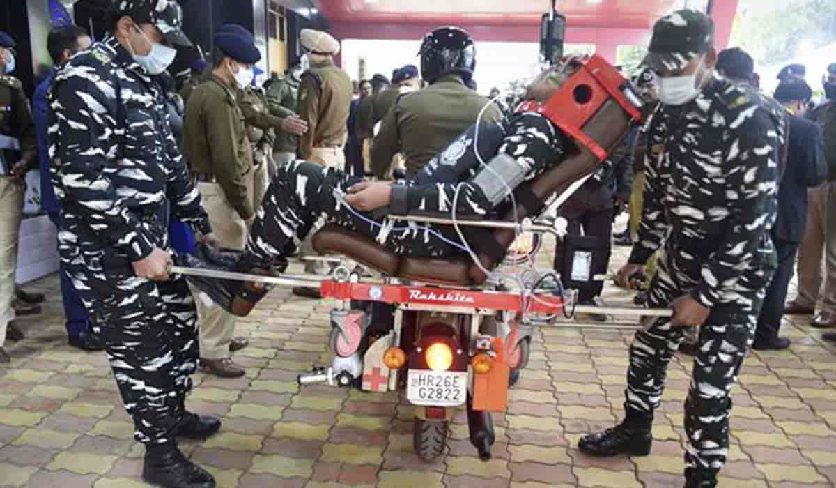 DRDO-developed Rakshita bike ambulance