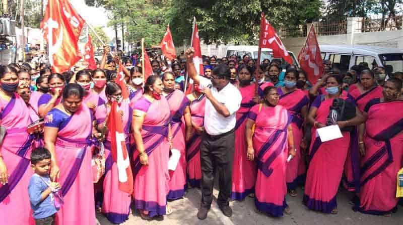 Anganwadi Protest- Updatenews360