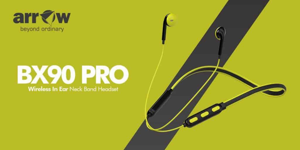 Arrow launches BX90 Pro wireless in-ear neckband headset at Rs 1299
