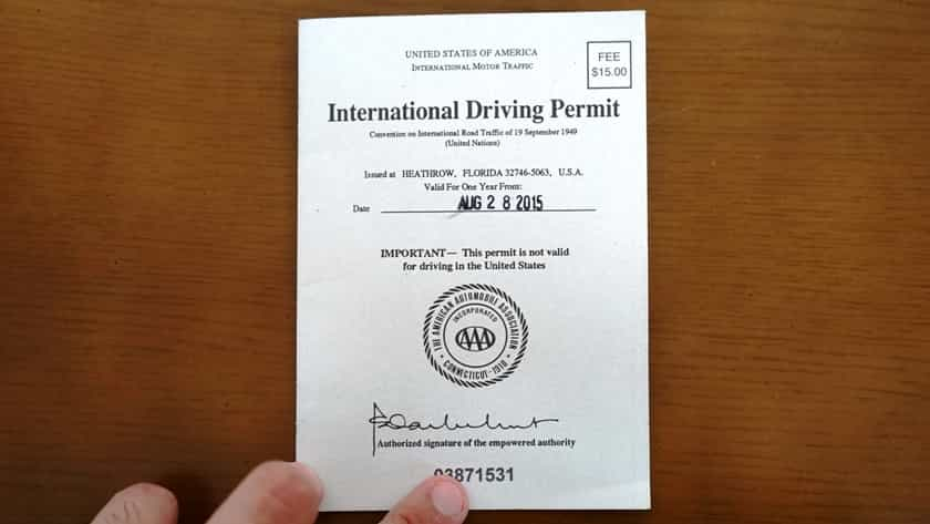 International Driving Permit can be renewed from abroad