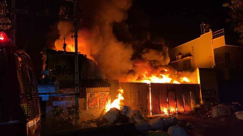 Plastic Godown Fire - Updatenews360