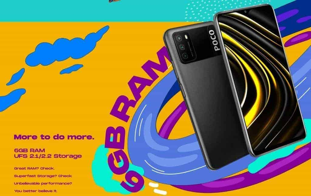 Poco M3 is coming to Flipkart on launch, 6GB RAM confirmed