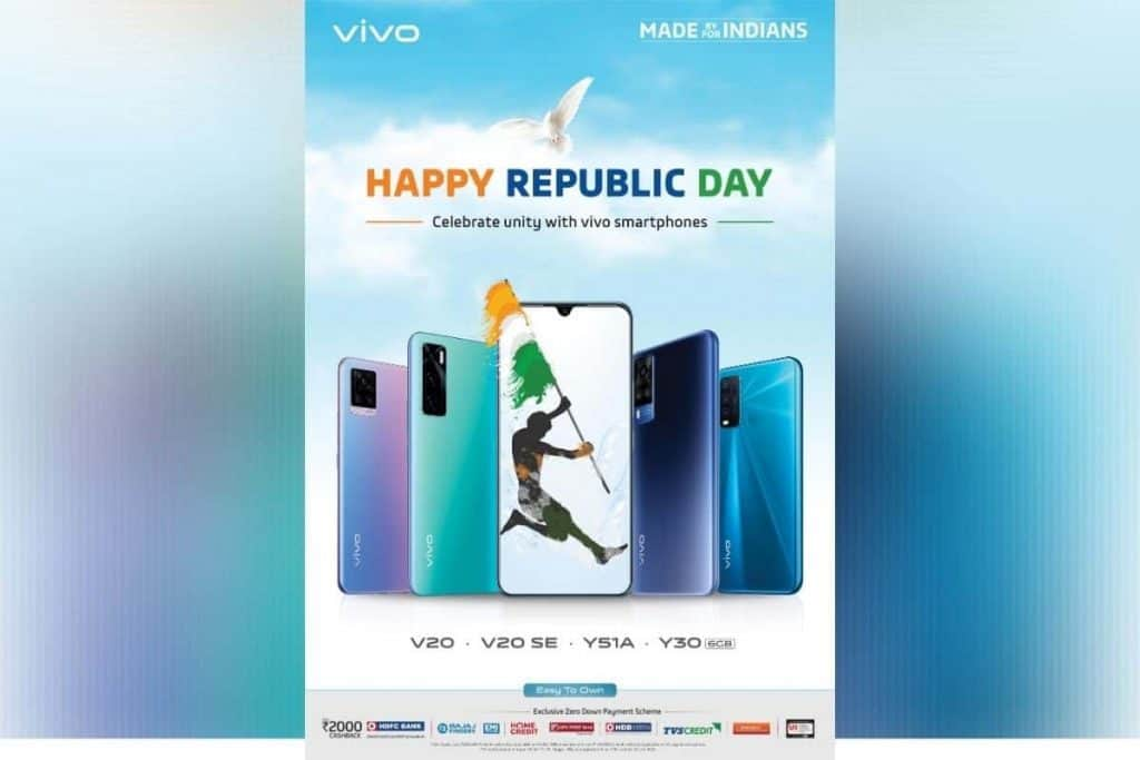 Vivo announces special deals on purchase of V20, V20 SE, Y51A, Y30