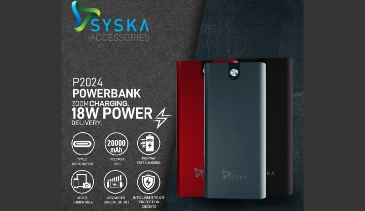 Syska launches 20,000mAh power bank with 18W fast charging support