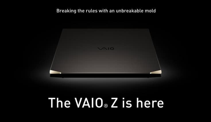 Vaio Z has a camera shutter and mic mute shortcuts for privacy, 180-degree open/close screen for easy collaboration and increased battery life to keep you connected for hours.